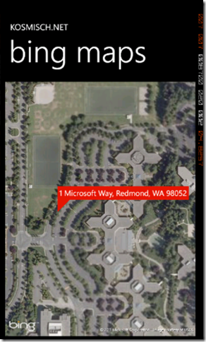 Bing Maps SOAP Services in Windows Phone Screenshot - 2
