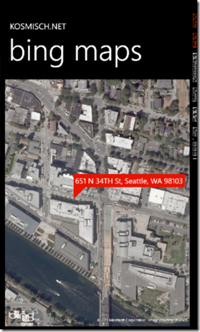 Bing Maps SOAP Services in Windows Phone Screenshot - 3