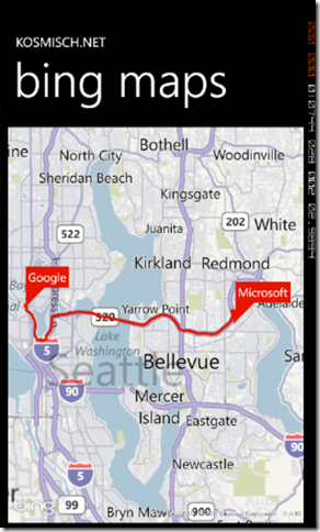 Bing Maps SOAP Services in Windows Phone Screenshot - 5